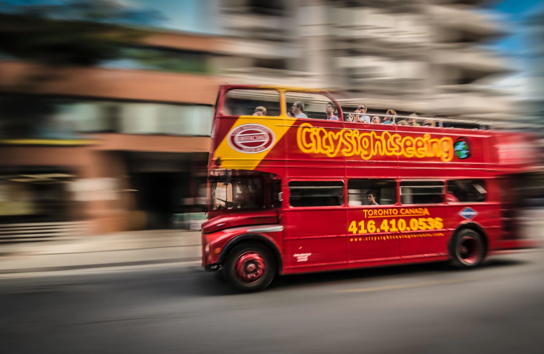An open top bus